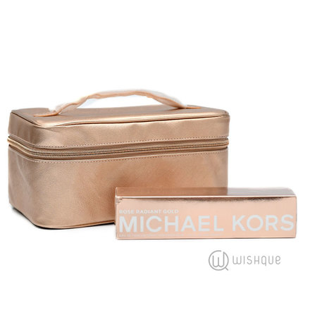 Michael Kors Radiant Rose Gold EDP + Free Cosmetic Bag
