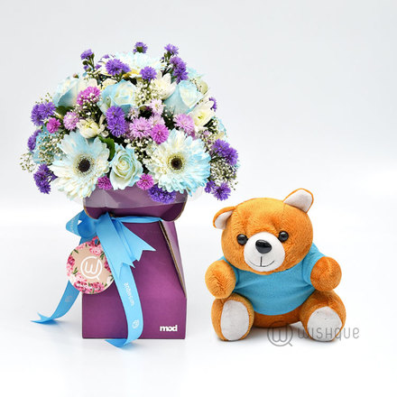 Blue Blossoms Gift Set