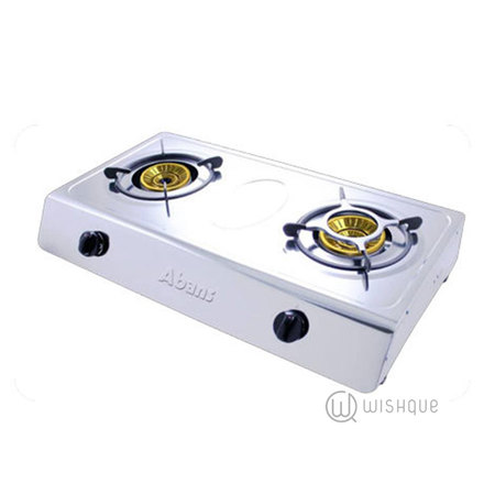 Abans Double Burner Gas Cooker - Stainless Steel