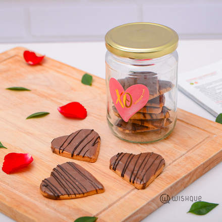 Chocolatey All Butter Heart Cookie Jar