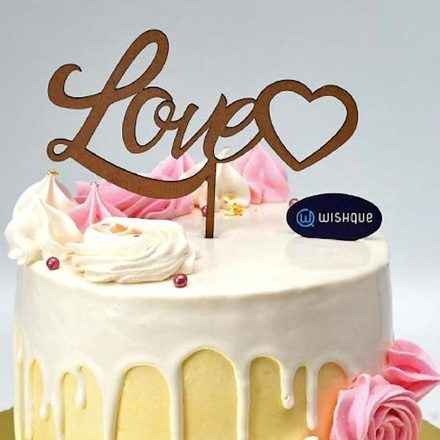 Love Heart Cake Topper