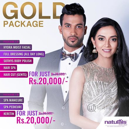 Naturals Unisex Salon & Spa - Gold Package