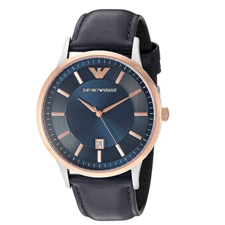 Emporio Armani Men's AR2506 Dress Black Leather Quartz Watch