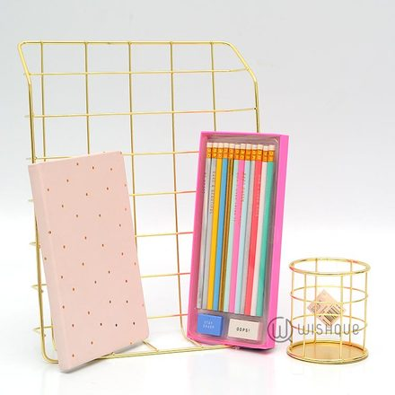 Stylish Gold & Blush Desk Stationery Pack