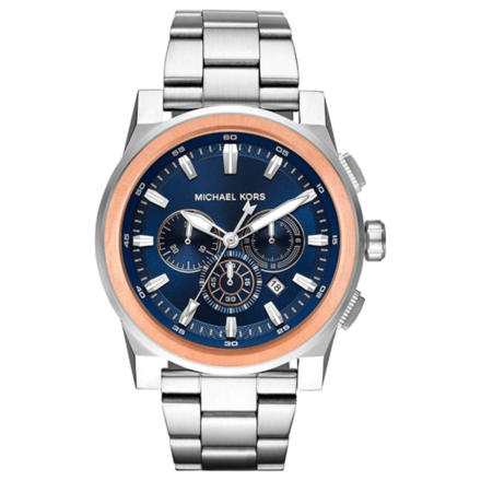 Michael Kors Men's Grayson Stainless-Steel Chronograph Watch MK8598