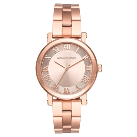 Michael Kors Women's Norie Rose Gold-tone Three-Hand Watch MK3561