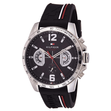 Tommy Hilfiger Men's Black Sports Watch 1791473