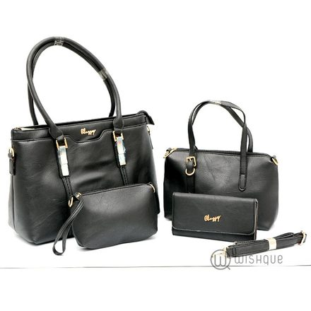 Classic Double Handle Tote Bag Collection-Black