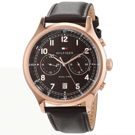 Tommy Hilfiger Men's Year-Round Analog Quartz Brown Watch 1791387