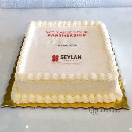 Seylan Bank Custom Print Chocolate Cake