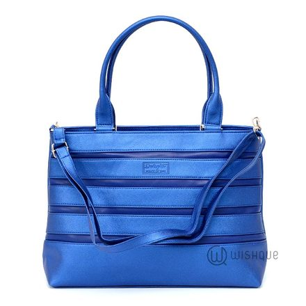 Metallic Blue Carryall Tote