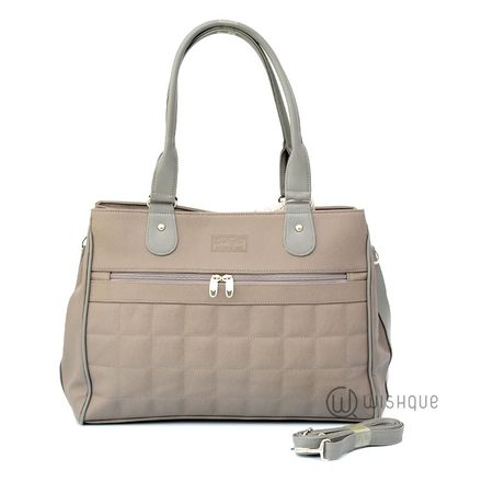 Soft Grey Carryall Tote