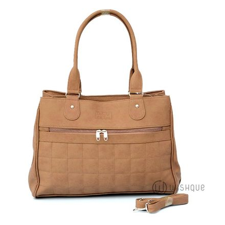 Soft Brown Carryall Tote