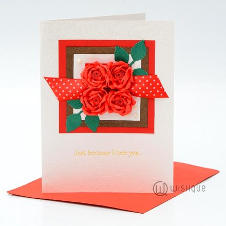 Red Romance Greeting Card