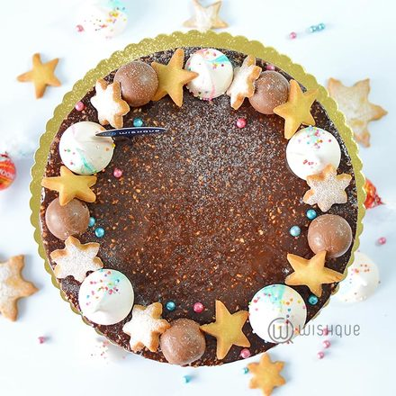 Lindt Chocolate Christmas Cheesecake Wreath