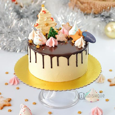Magical Christmas Butter Cookie Ribbon Cake