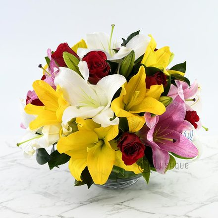 Stylish Glow Lily Arrangement