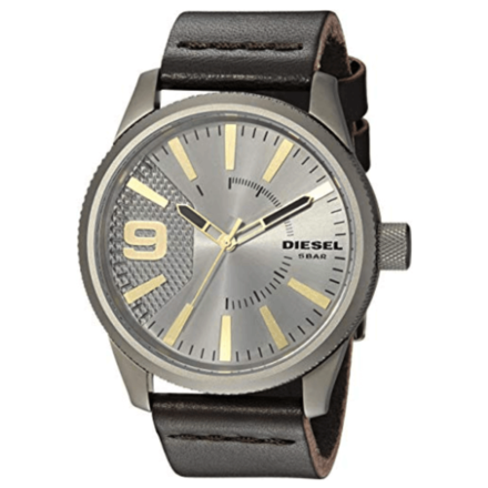 Diesel Stainless Steel & Leather Watch DZ1843
