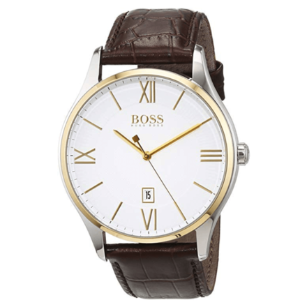 Hugo Boss Men 1513486 Year-Round Analog Quartz Brown Watch