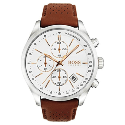Hugo Boss Men's Quartz White Dial Analog Watch 1513475