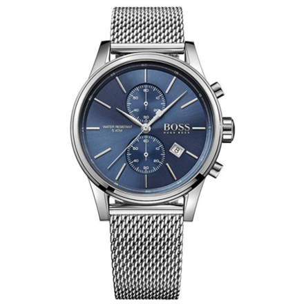 Hugo Boss Men 1513441 Year-Round Chronograph Quartz Silver Watch