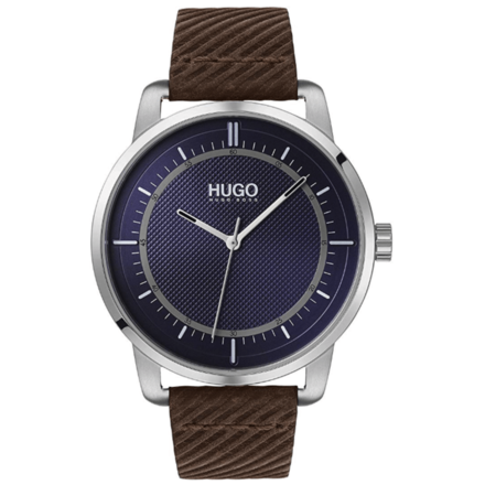 HUGO by Hugo Boss Men's Stainless Steel Quartz Watch with Leather Strap