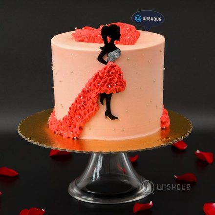 Lady In The Red Dress Chocolate Cake