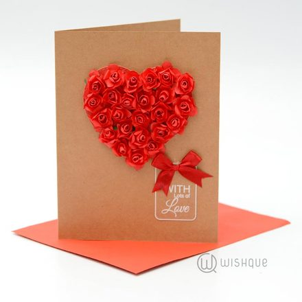Red Roses Romance Card
