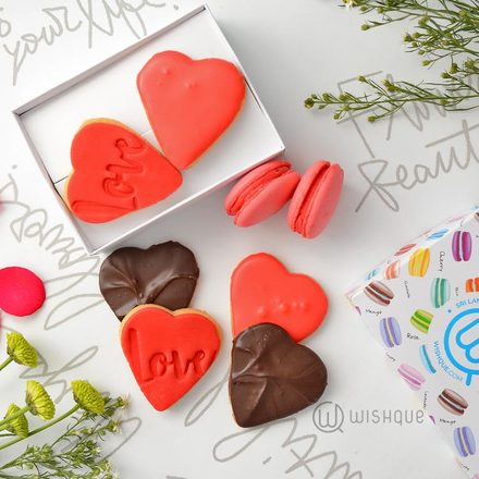 Pink Hearts Cookies & Sweets Collection