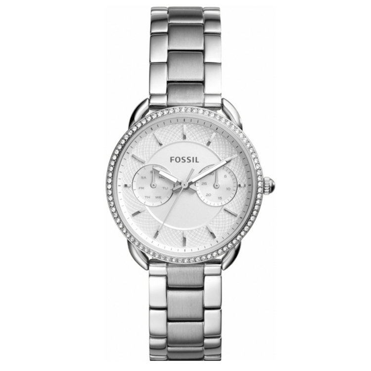 Fossil ES4262 Tailor Silver Tone Dial Stainless Steel Bracelet  Women's Watch