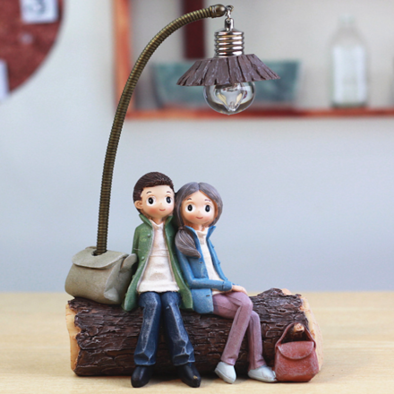 Date Night Couple Ornament with Night Light