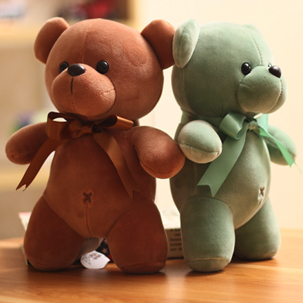 Adorable Plush Teddy Brown Or Green