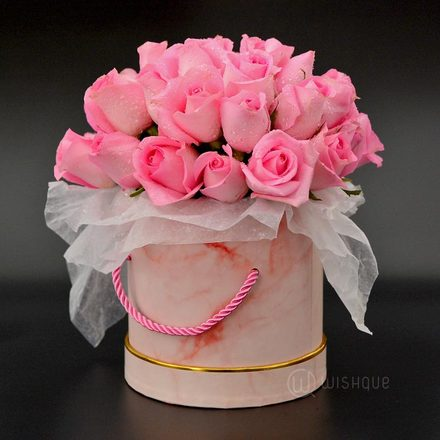 Pink Roses In A Bucket