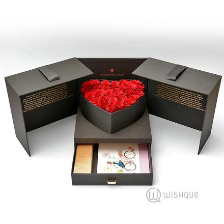 Elizabeth Arden Fresh Rose Heart Box With Drawer