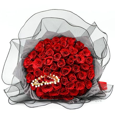 Love You Unconditionally 50 Red Roses Bouquet