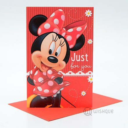 Just For You Minnie Mouse Birthday Card