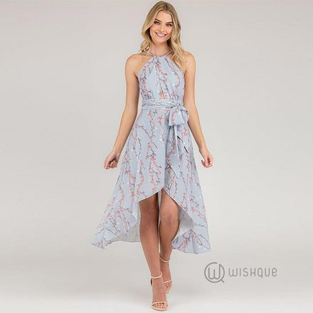 Halterella Printed Dress By Rushi Clothing