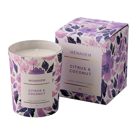 Luxury Essential Oil Scented Candle - Citrus And Coconut
