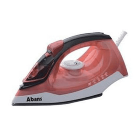 Abans Steam Iron - Orange + Black