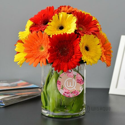 You Are My Sunshine Gerberas Flower Vase