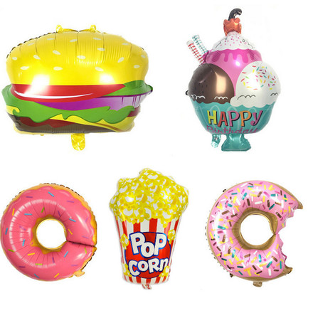 Dessert Party Theme Decoration Foil Balloon Full Set