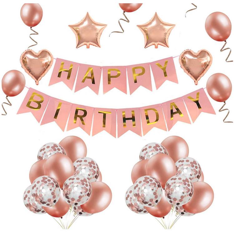 Rose Gold Theme Birthday Party Decoration Set - Wishque | Sri Lanka's Premium Online Shop! Send ...