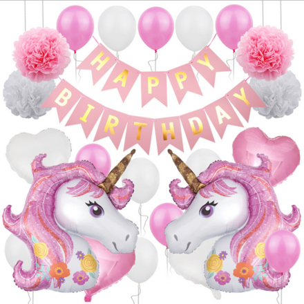 Fairy And Unicorn Celebration Theme Party Decor Set