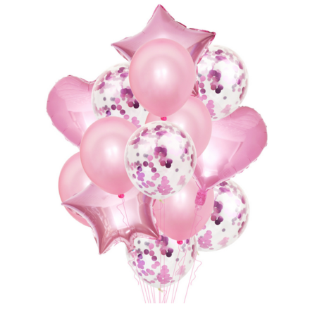 Party Decor Balloons Pack - Pink