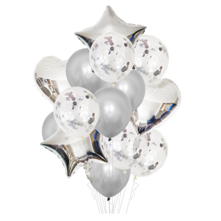 Party Decor Balloons Pack - Silver