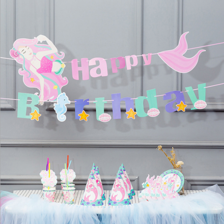 Mermaid Theme 6 People Party Accessory Set