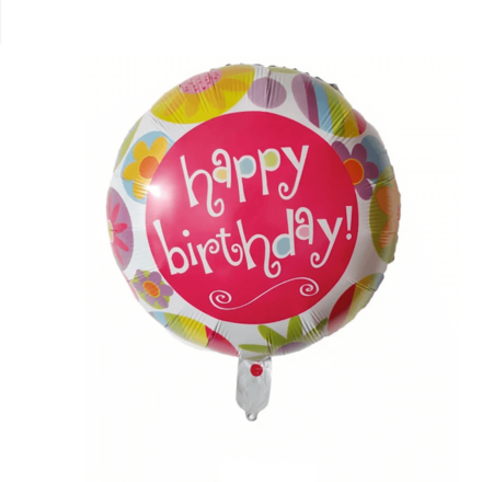 Happy Birthday Flower Shades Foil Balloon