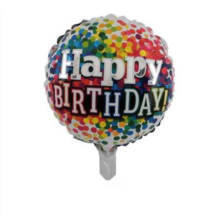 Happy Birthday Multicolour Foil Balloon