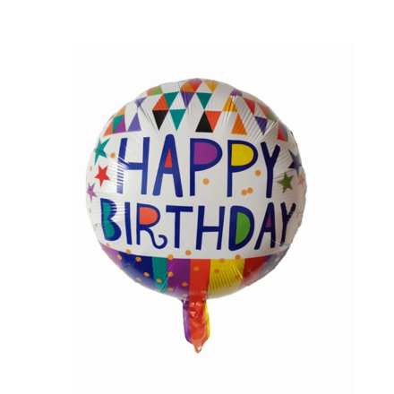 Happy Birthday Blue Color Letters Foil Balloon