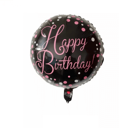Happy Birthday Black Color Foil Balloon